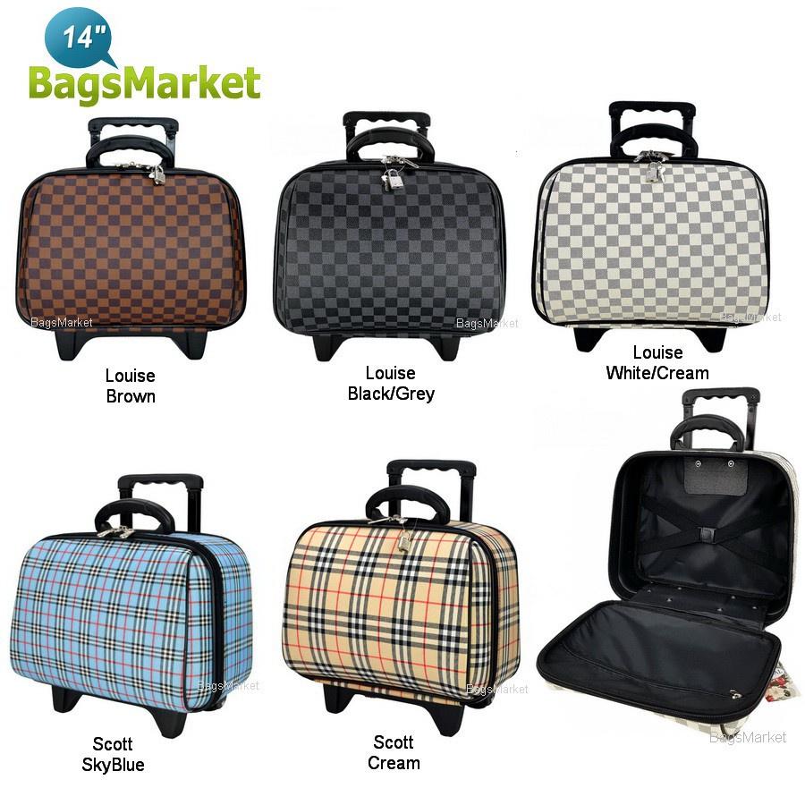 ถุงเก็บของ กระโปรงหลังรถ ถุง Wheal กระเป๋าเดินทางล้อลาก 14 นิ้ว Luxury Classic Brown Classic