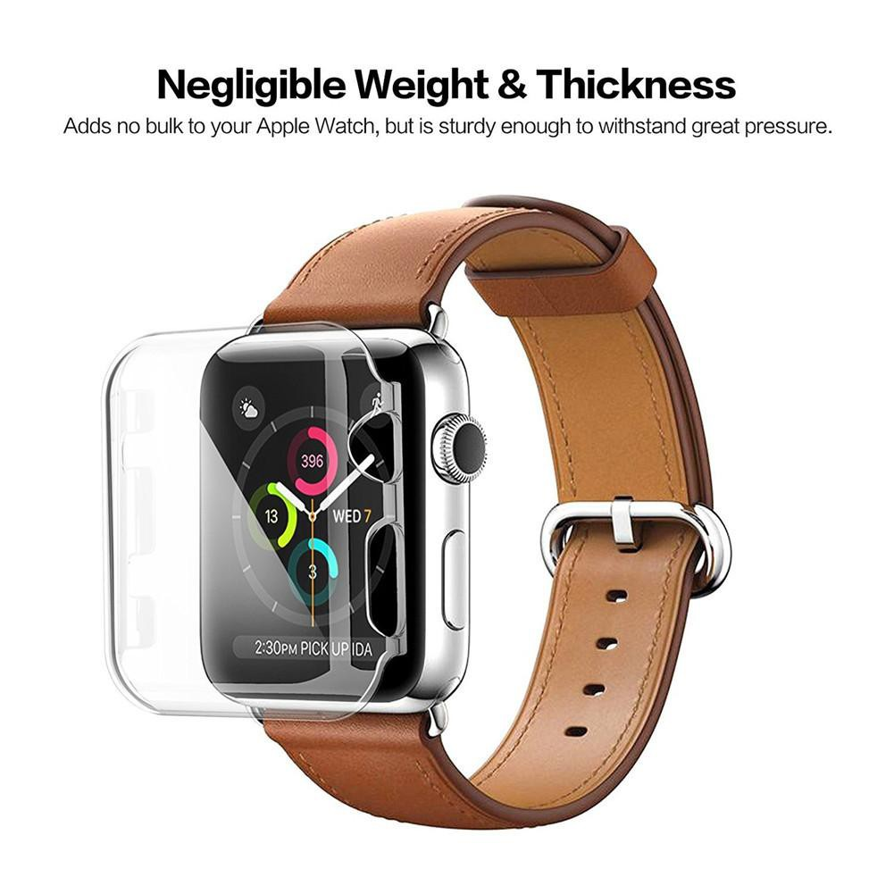 Silicone Hard Case For Apple Watch Series 4 44mm 40mm PC Protector Cases For Iwatch All-Around Cover Ultra-Thin Clear Frame