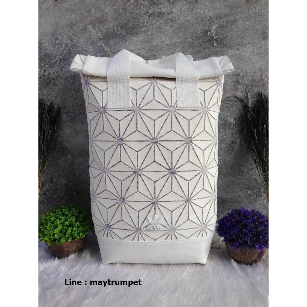 ADIDAS 3D Roll Top Backpack กระเป๋าเป้ Unisex ดีไซน์สุดฮิตสไตล์ ISSEY MIYAKE
