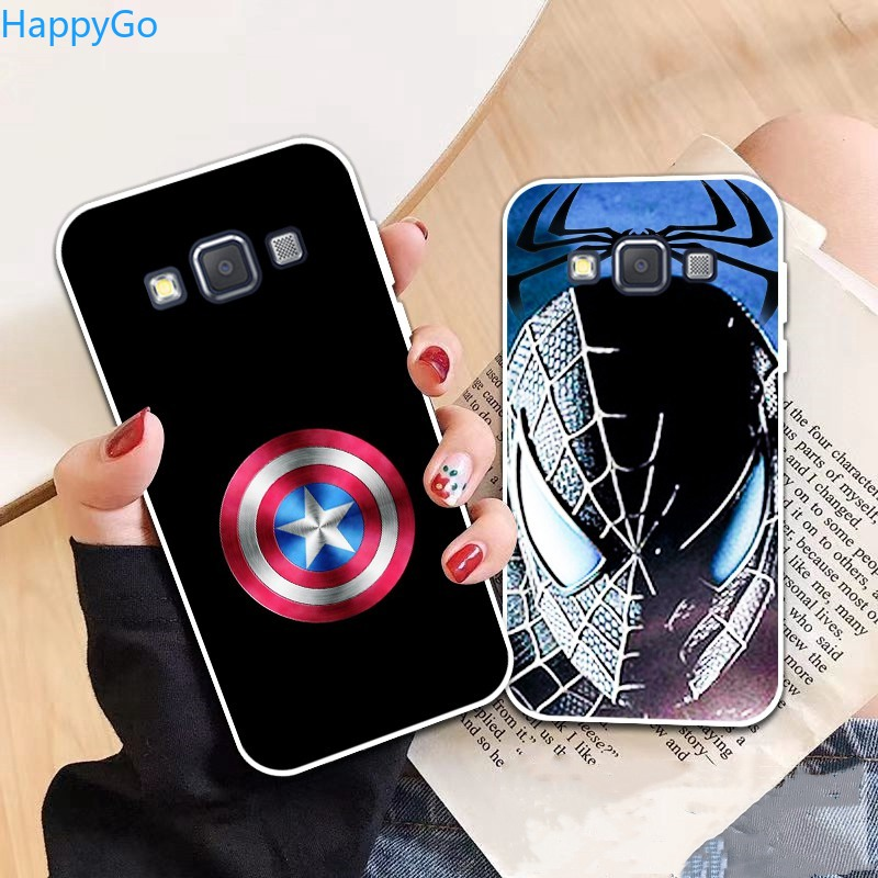 Happigo-Samsung A3 A5 A6 A7 A8 A9 Star Pro Plus E5 E7 2016 2017 2018 Spiderman pattern-2 Soft Silicon Case Cover