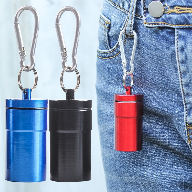 Mini Portable Cigarette Ashtray For Outdoor Use Ash Holder Pocket Tray with Lid Key Chain Pill Box Storage Outdoor Smoki