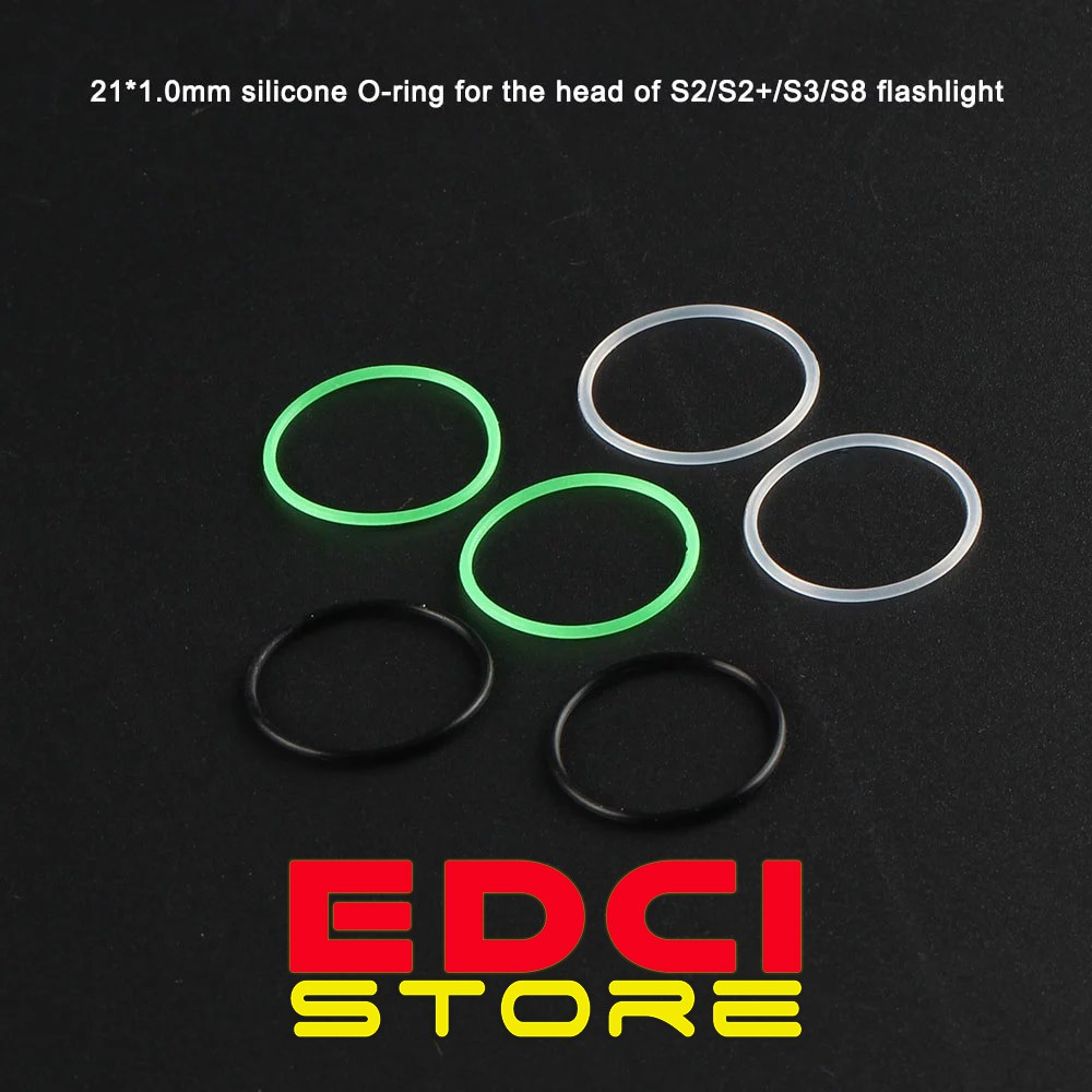 แหวนซิลิโคน O-Ring สําหรับไฟฉาย Convoy S2 + / S3 / S8 Etc. 21x1 มม.