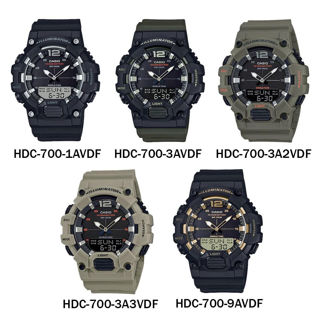 [ใส่โค้ดลดเพิ่ม 8%*] ของแท้ นาฬิกาข้อมือ Casio รุ่น HDC-700