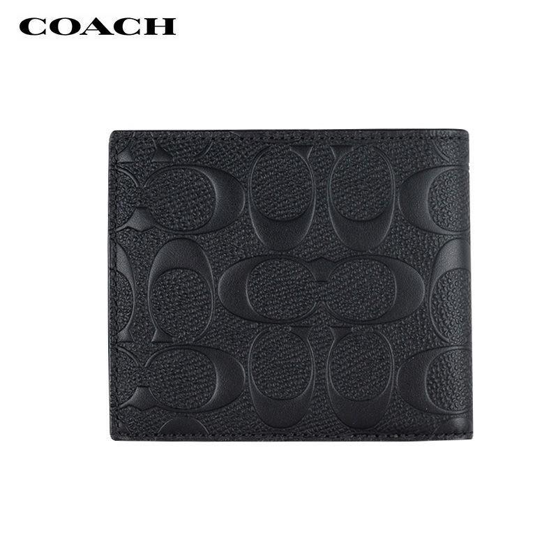 ✹COACH/Coach wallet กระเป๋าสตางค์ใบสั้นผู้ชายสุดหรูกล่องของขวัญ F74993