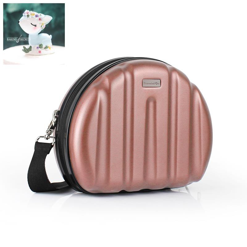 Translator Mini Small กระเป๋าเดินทางทรงกลมหญิง 10 นิ้วแฟชั่นน่ารักกระเป๋าใบเล็กแต่งหน้าเดินทางกระเป๋า