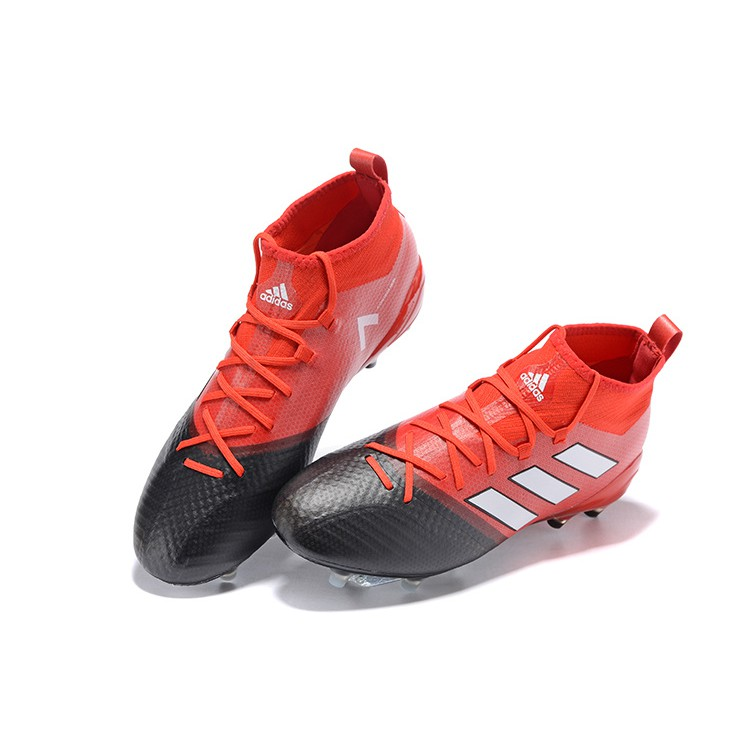sports shoes 7b956 76f9b H2632GY Adidas ACE 17.1 FG red/white/black men's/women's football shoes