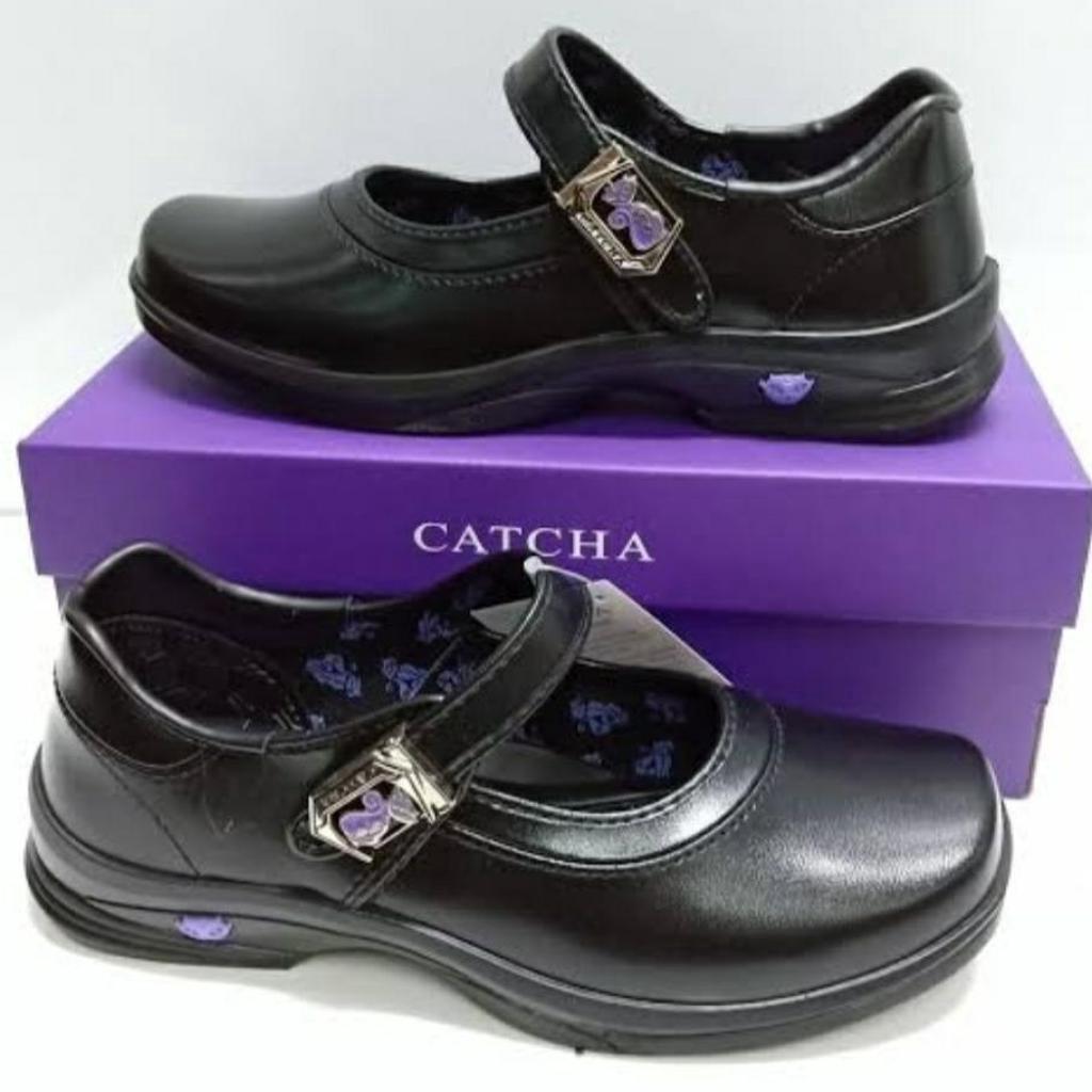 Sale Catcha รองเท้าคัชชู นักเรียนหญิง สีดำ แคชช่า CX03A+ รุ่นใหม่ล่าสุด @ลดิเศษale Catcha รองเท้าคัชชู นักเรียนหญิง สีดำ