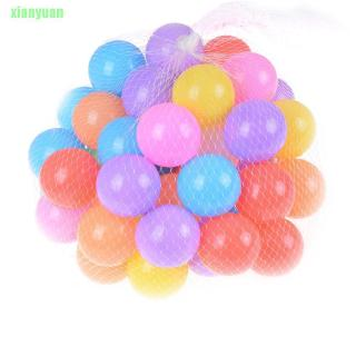 XY 10pcs/lot Eco-Friendly Colorful Soft Plastic Water Pool Ocean Wave Ball Baby Funny Toys Stress Air Ball Outdoor Fun S
