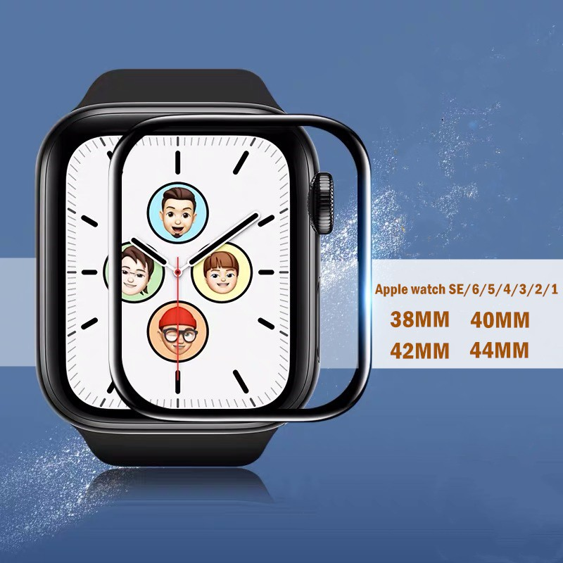 ☞ฟิล์ม Applewatch Series 6/5/4/3/2/1/SE Screen Protector Tempered Protective Film for 38mm 40mm 42mm 44mm♀