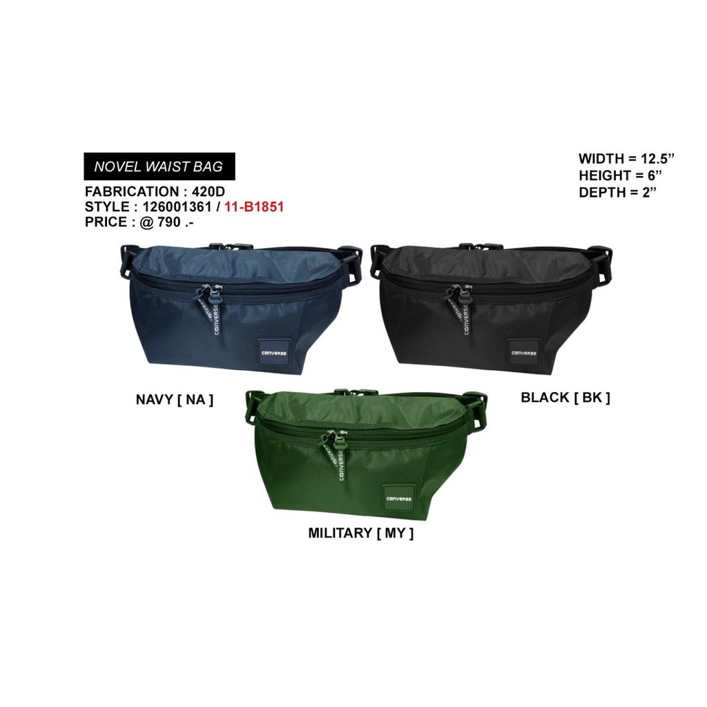 ff8ddfed059b CONVERSE กระเป๋าคาดอกเอว unisex รุ่น NOVEL WAIST BAG คละสี