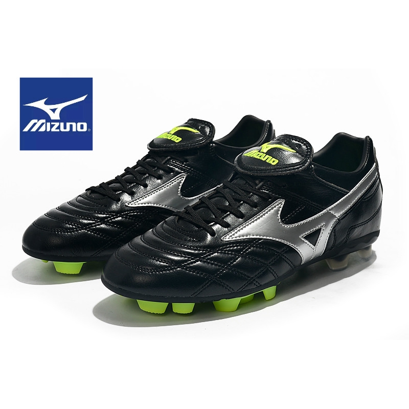 Mizuno Morelia II Made in Japan FG รองเท้าฟุตบอลสีน้ำเงิน รองเท้ากีฬาผู้ชายมืออาชีพ