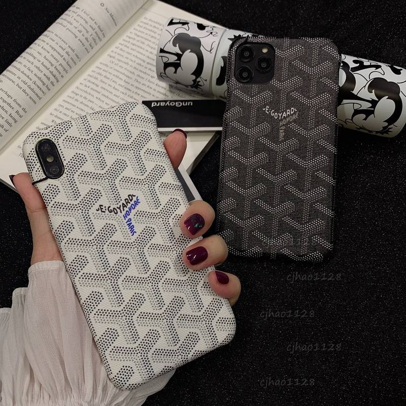 Classic and simple goyard big brand for iPhone 12 12Pro Max 11 11pro phone case Apple XSMAX/XR SE2 7 8plus phone case leather case trendy couple เคส iphone เคสหนัง