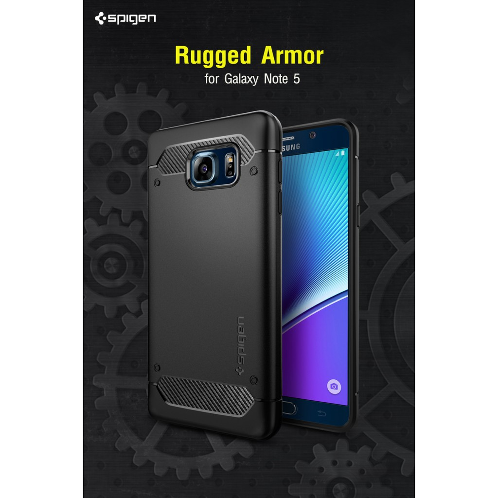 the latest 92aa3 ca5cc เคสโทรศัพท์ SPIGEN Galaxy Note 5 Case Rugged Armor