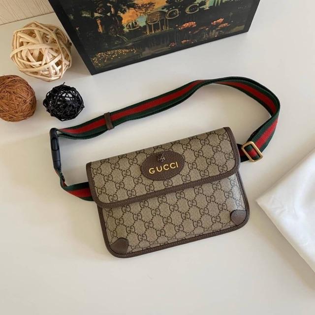 หนังแท้ทั้งใบ💯% GUCCI Neo Vintage GG Supreme belt bag งานเทียบแท้1:1 เกรดสูงที่สุด