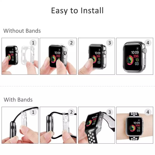 applewatch series 6 สาย applewatch เคสใสนิ่มกันรอย AppleWatch Series 1,2,3,4,5,6,SE (พร้อมส่ง) bFgO