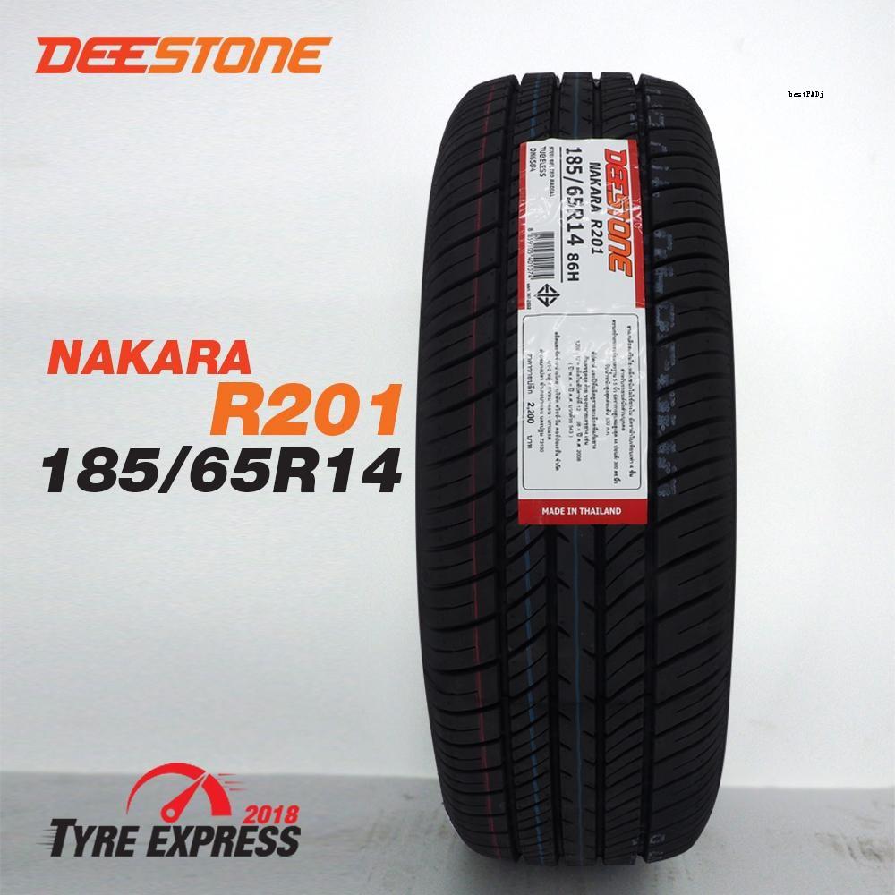 ยางรถยนต์ดีสโตน Deestone ยางขอบ14 รุ่น nakara R201 ขนาด 185/65R14 (2 เส้น)  แถมจุ๊บลม 2 ตัว