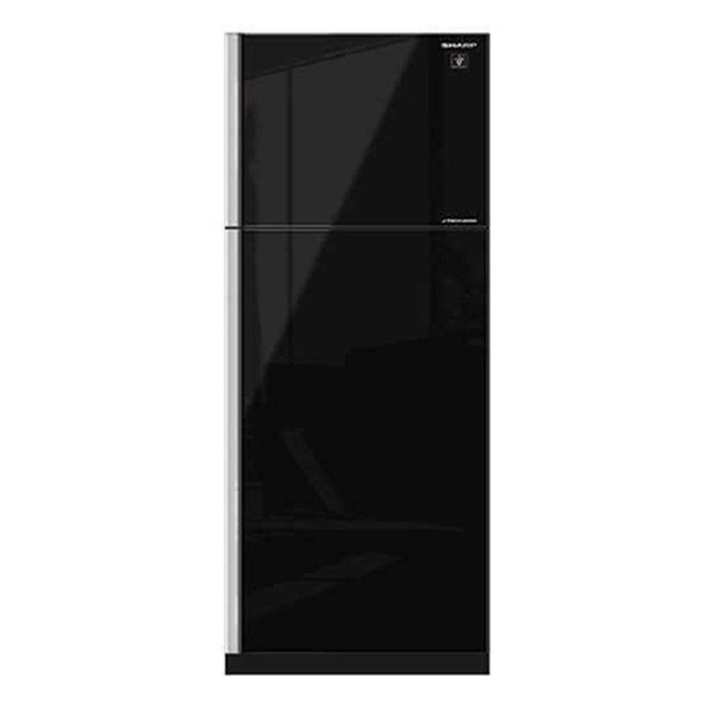 ตู้เย็น ตู้เย็น 2 ประตู SHARP SJ-X410GP-BK 14.4 คิว สีดำ ตู้เย็น ตู้แช่แข็ง เครื่องใช้ไฟฟ้า 2-DOOR REFRIGERATOR SHARP SJ