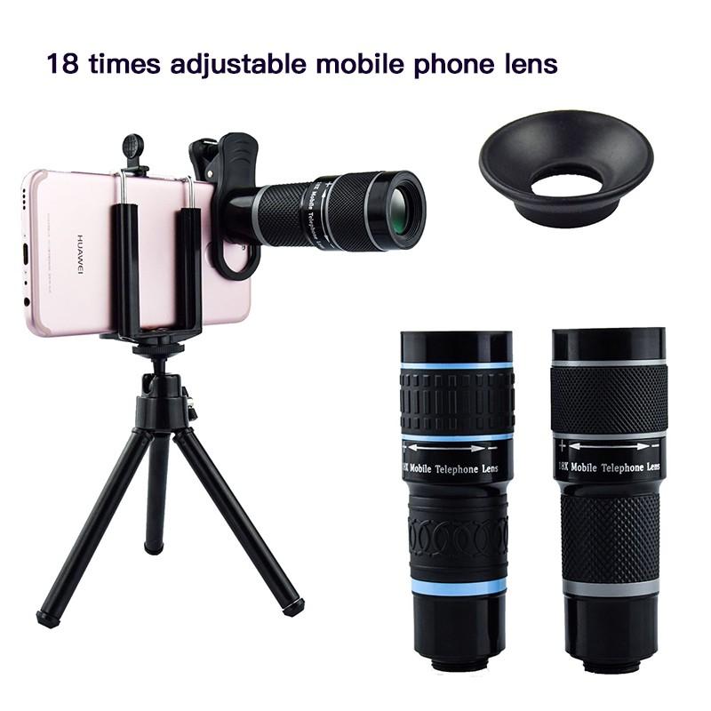 เลนส์ซูม 18 X สําหรับ Iphone 7 Plus Samsung สมาร์ทโฟน