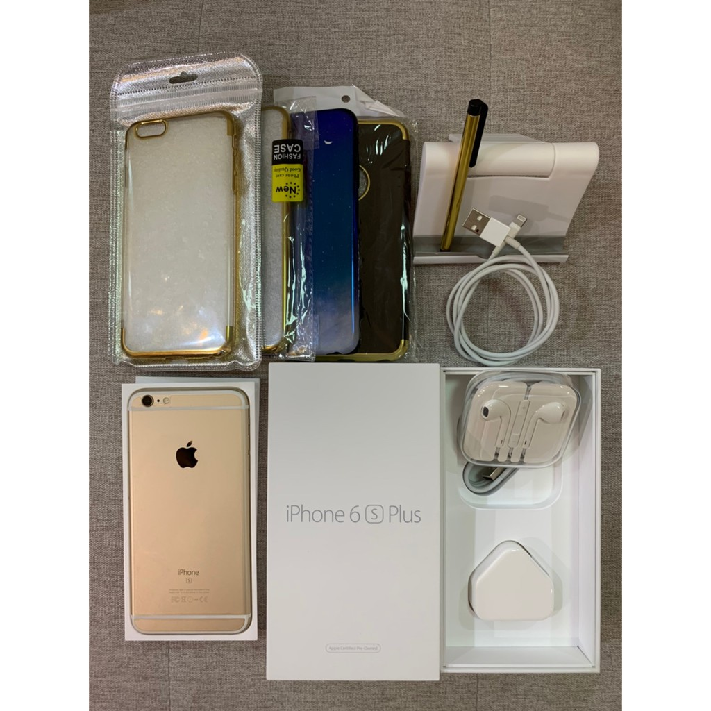 Apple iPhone 6s Plus 64GBสีทอง(Gold)โทรศัพท์มือถือ เครื่องมือ2สภาพ95%