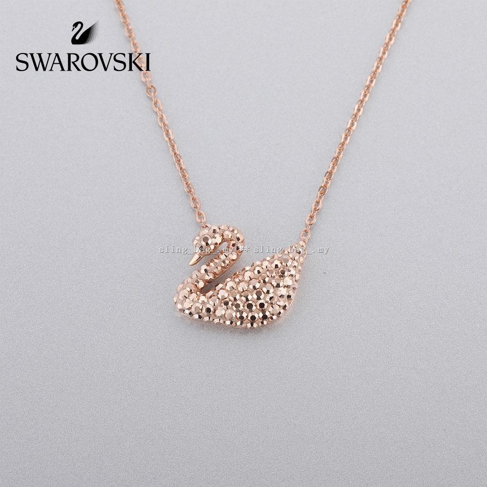 S_b Ori Swarovski Iconic Swan สร้อยคอจี้รูปหงส์เครื่องประดับสตรี