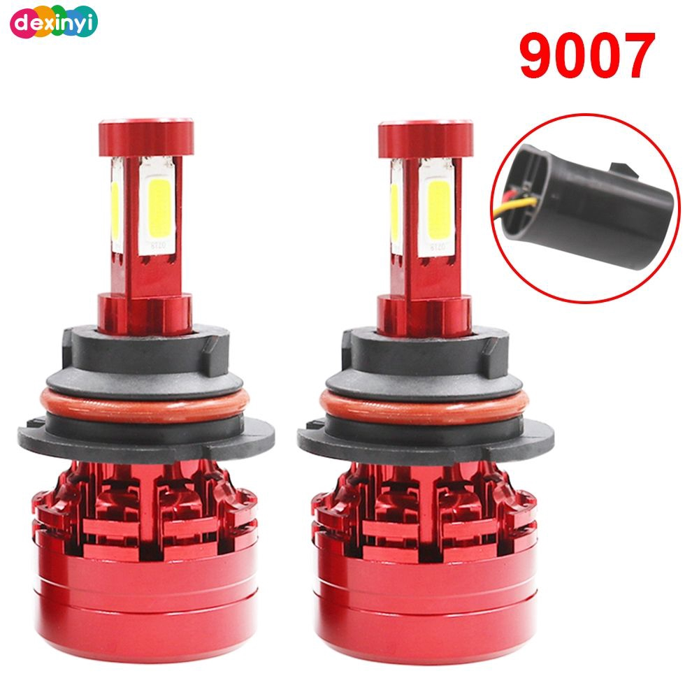 4Sides H4 H7 H11 H13 9005 9006 9007 LED Headlight Kit Hi//low Beam Fog Bulb 6000K