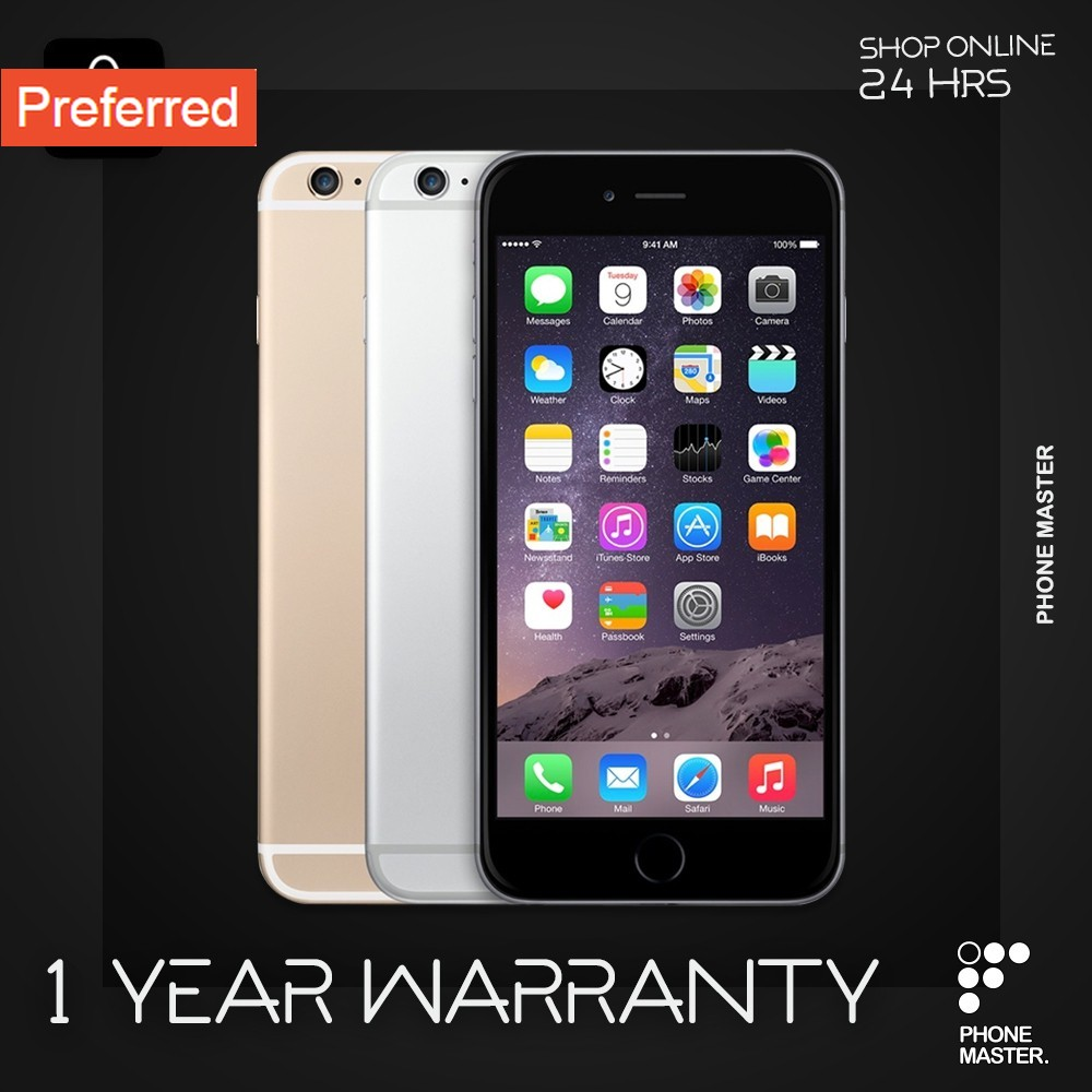 "11.11Apple iPhone 6 (16GB) เครื่องแท้ ประกันร้าน 1 ปี (Code รับเหรียญคืน 800 ""MBJUL20"")"