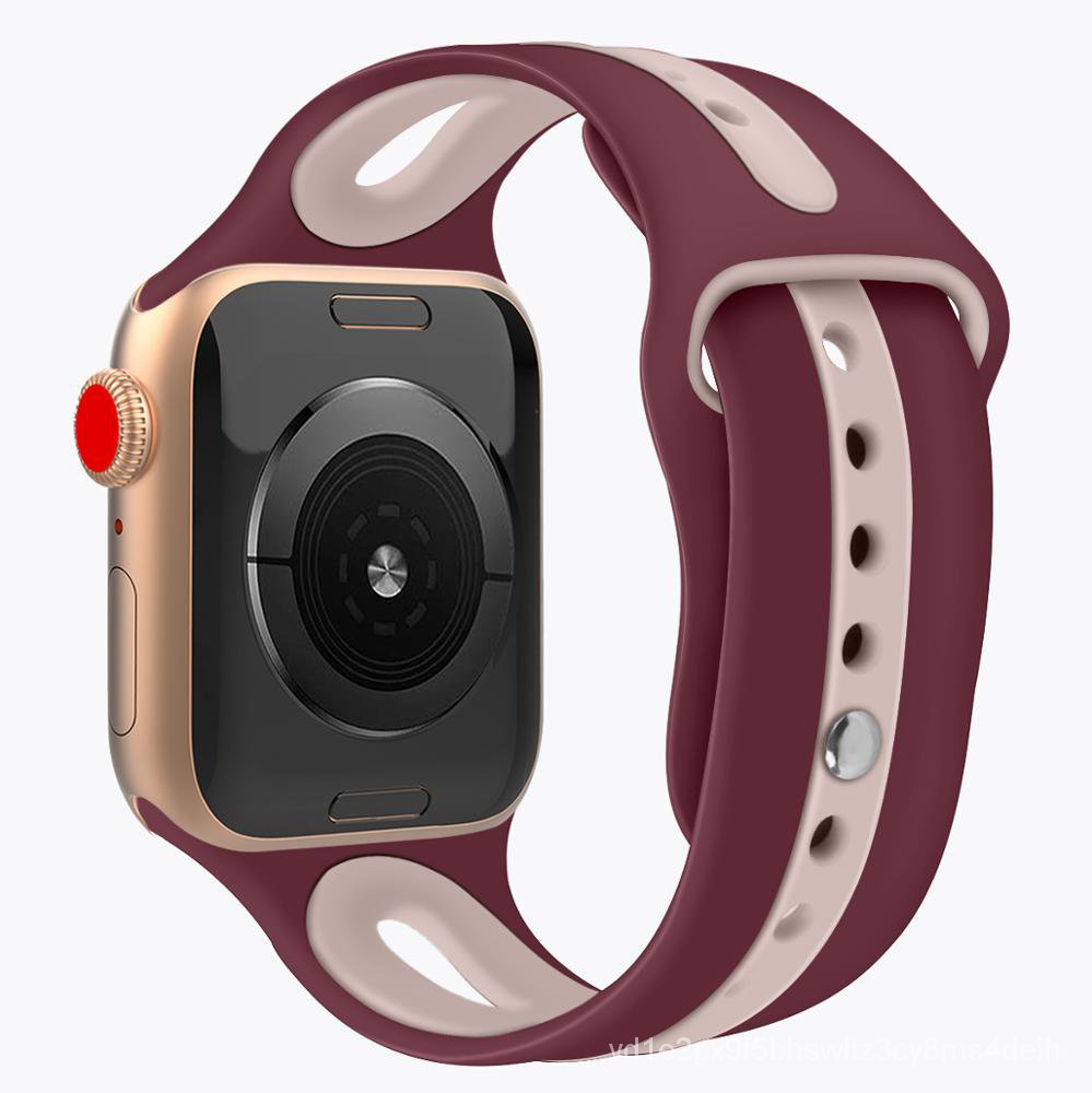 More stocks wholesale Apple Watch band silicone series 5 4 3 2 1 colorful loop band for Apple watch band strap RxL7