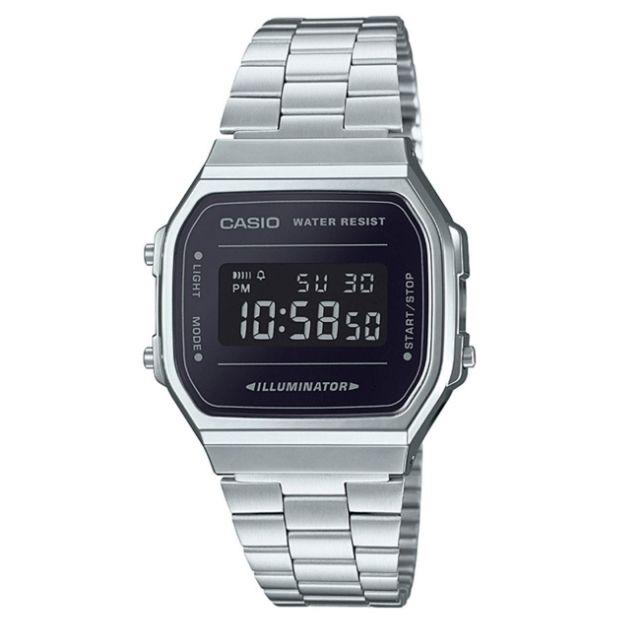 นาฬิกาข้อมือผู้หญิง CASIO รุ่น A168WEM-1DF สายสแตนเลส รับประกัน1ปี ของแท้แน่นอน 💯% ส่งพร้อมกล่อง