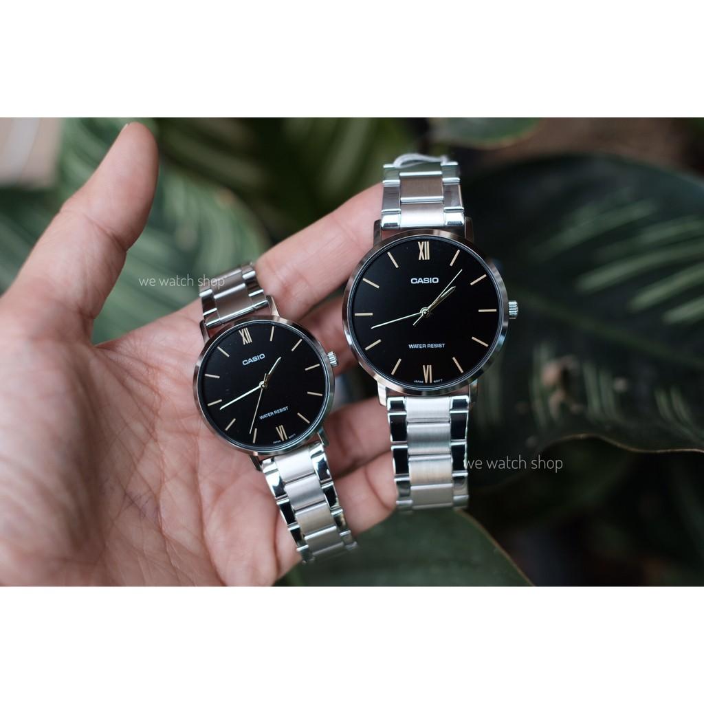 นาฬิกาคู่รัก CASIO ของแท้ CMG รุ่น MTP-VT01D and LTP-VT01D สายสแตนเลส รับประกันศูนย์ CMG