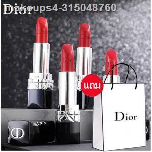 🌈ยอดนิยมที่สุด🌈✓ลิปสติก Dior Lip Glow Rouge Dior Matte Lipstick Couture Colour Comfort and Wear Lipstick, 999 ลิปสติกด