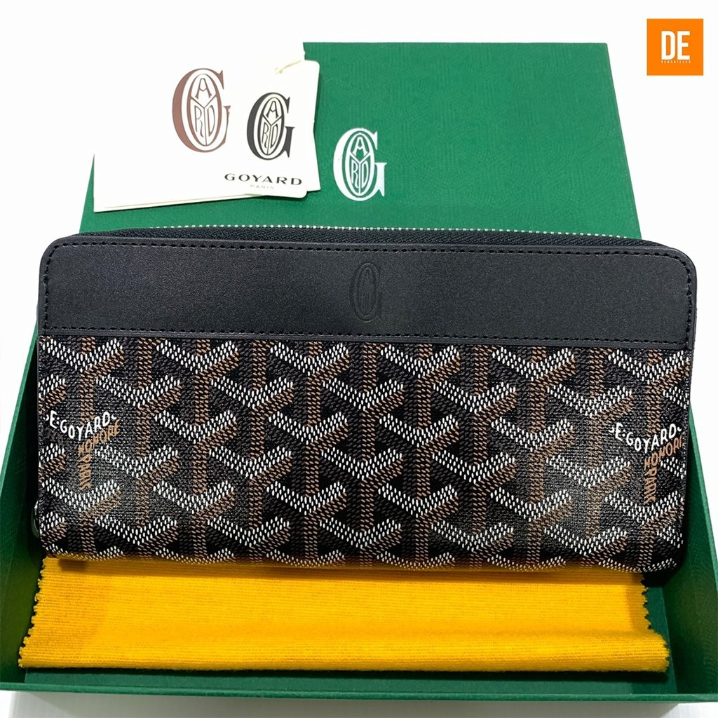 กระเป๋าสตางค์ New Goyard Long Zippy Wallet in Black  : GN395A