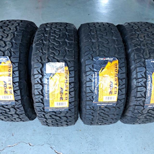 ยางรถยนต์ Raiden Tire Monster AT-2 ขนาด 265/65R17 112T