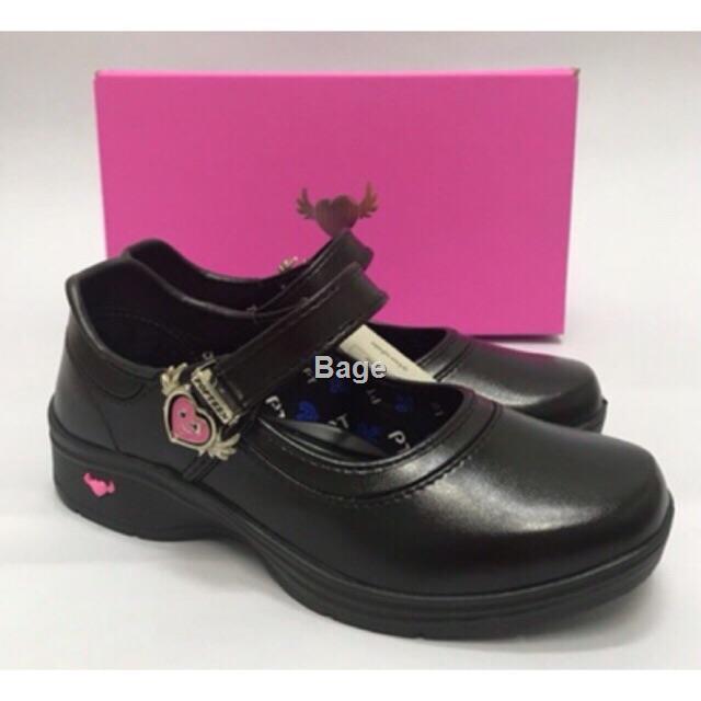 🌟Bage🌟POPTEEN รองเท้านักเรียนPOPTEEN  รองเท้านักเรียนสีดำเด็กผู้หญิง รองเท้านักเรียนเด็กผู้หญิง รองเท้าคัชชูเด็กผู้หญ