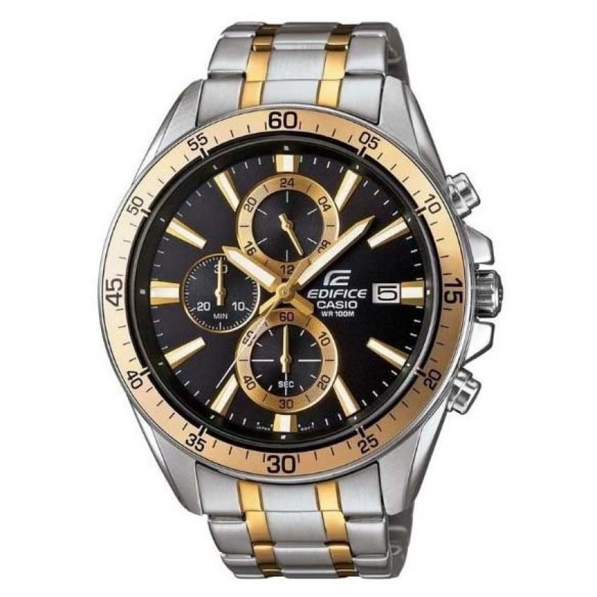 Casio Edifice นาฬิกาข้อมือผู้ชาย สายสแตนเลส สีเงิน EFR-546SG-1AVUDF -Gold/Silver