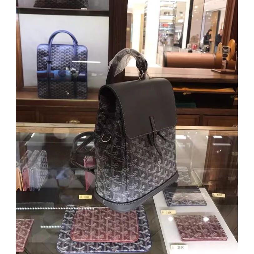 ของแท้ 100% กระเป๋าสะพายหลังขนาดเล็กรูปตัว Y โลโก้ใหม่ของ Goyard