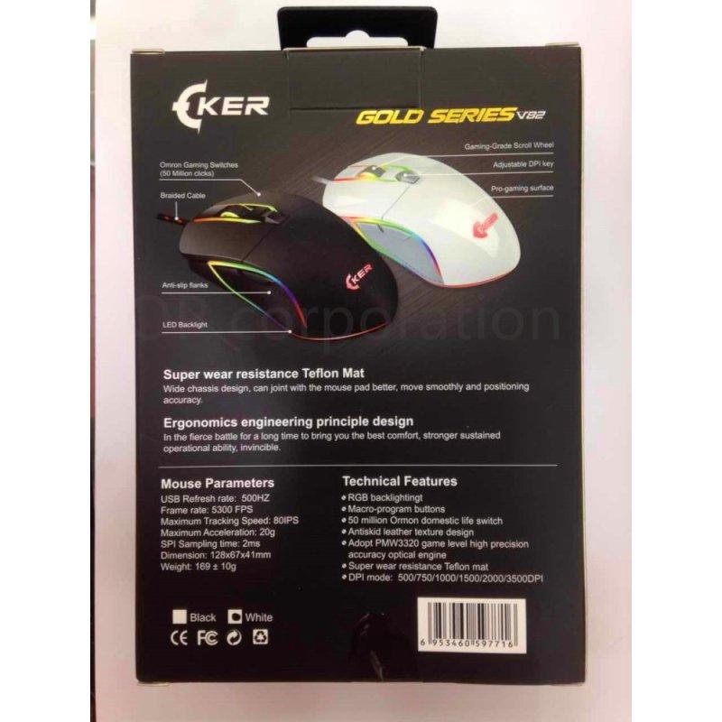 OKER เม้าส์Gaming Mouse รุ่น V82(black) | Shopee Thailand