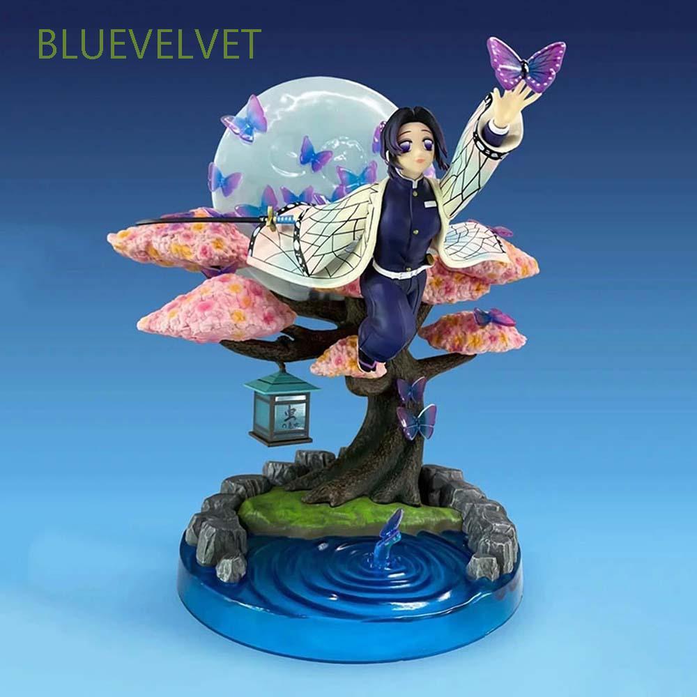BLUEVELVET Cute Anime Demon Slayer Flying Posture Agatsuma Kochou Shinobu Kimetsu No Yaiba Figures Toys Japan Anime Special PVC Figurine Figure Models Anime Model Action Figures