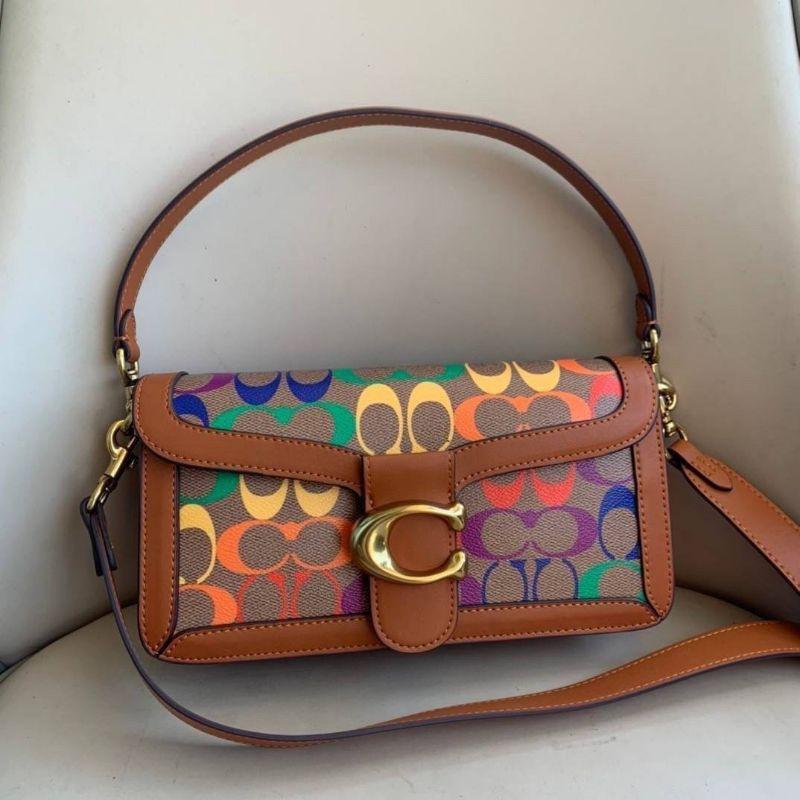 กระเป๋าสะพายข้างได้ หรือ สะพายเป็น crossbody ทรงสวย Coach Tabby Shoulder Bag