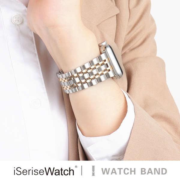 สาย applewatch iserisewatch เหมาะสำหรับ Apple Watch iwatch6 / SE สาย applewatch1 / 2/3/4/5 รุ่นสายสแตนเลส 38/42/44/44 มม