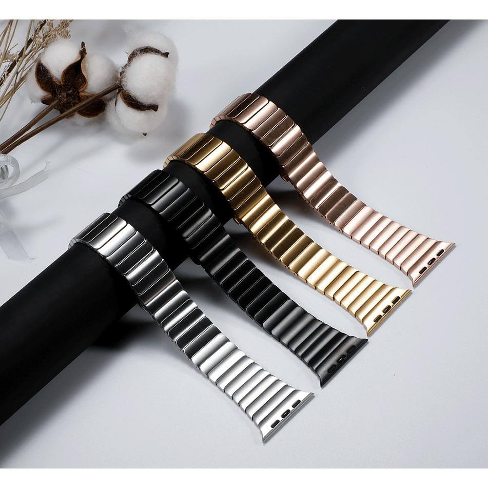 Luxury สายนาฬิกา Apple Watch เหล็กกล้าไร้สนิม สาย Applewatch Series 6 5 4 3 2 1,Apple Watch SE size 38mm 40mm 42mm 44mm