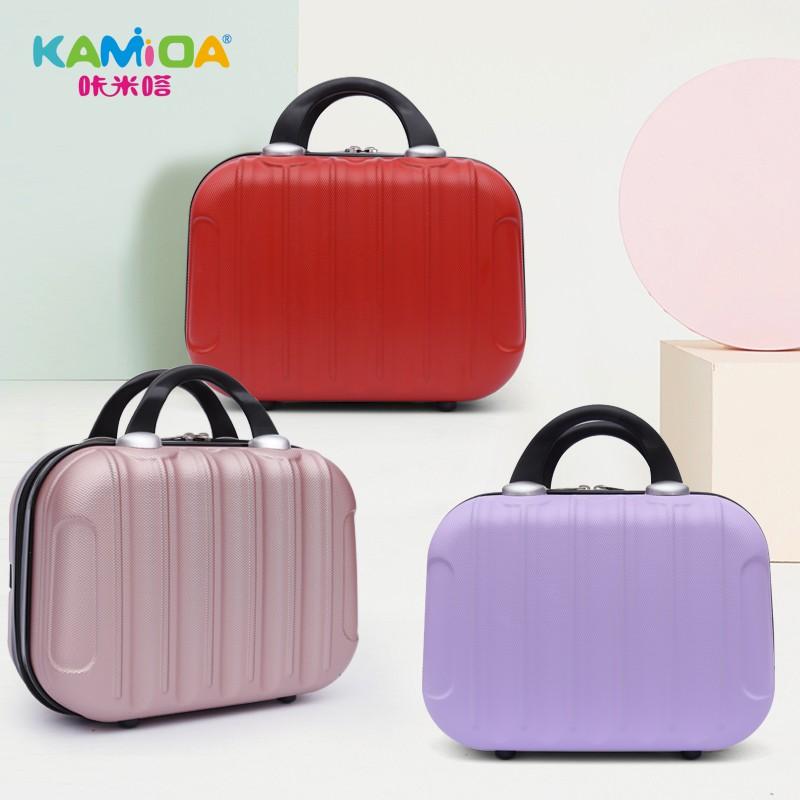 นิ้ว กระเป๋าลาก กระเป๋าเดินทางล้อคู่ แข็งแรง ยืดหยุ่นสูง น้ำหนักกระเป๋ามินิน้ำหนักเบาของผู้หญิง16กระเป๋าเดินทาง, กระเป๋า