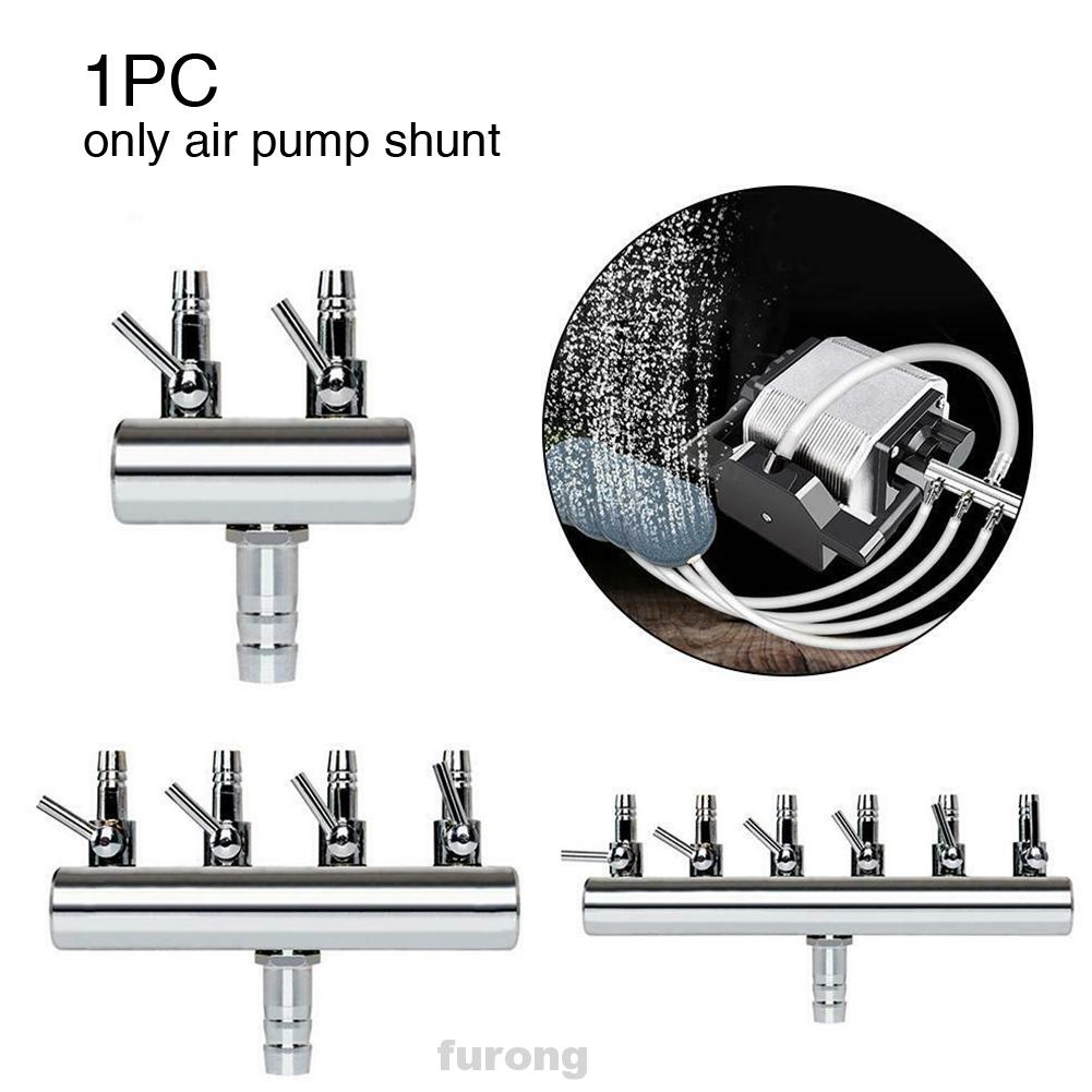 ADJUSTABLE AIR VALVES AQUARIUM CONNECTOR AIR LINE TUBING FISH TANK 6 PCS