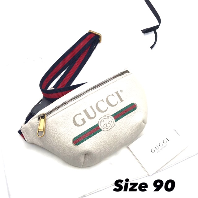 "❤️New Gucci Belt Bag mini90"" ขาว อปก ถุงผ้า การ์ด ถุงกระดาษ 21,999 บาท‼️sale‼️  ❤️New Gucci Belt Bag mini90"" ดำ"
