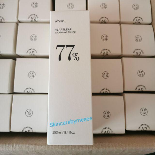 (พร้อมส่ง/ของแท้100%)โทนเนอร์พี่จุน Anua Heartleaf 77% Soothing Toner  250ml