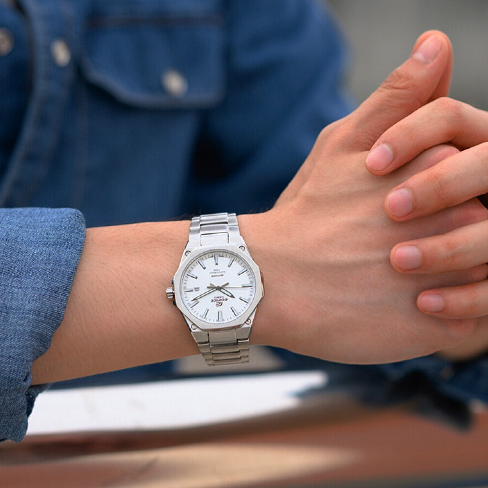 นาฬิกาข้อมือ ผู้ชาย Casio Edifice  สายสแตนเลส EFR-108D Series  รุ่น EFR-S108, EFR-S108D (EFR-S108D-1A,EFR-S108D-7A) CMG