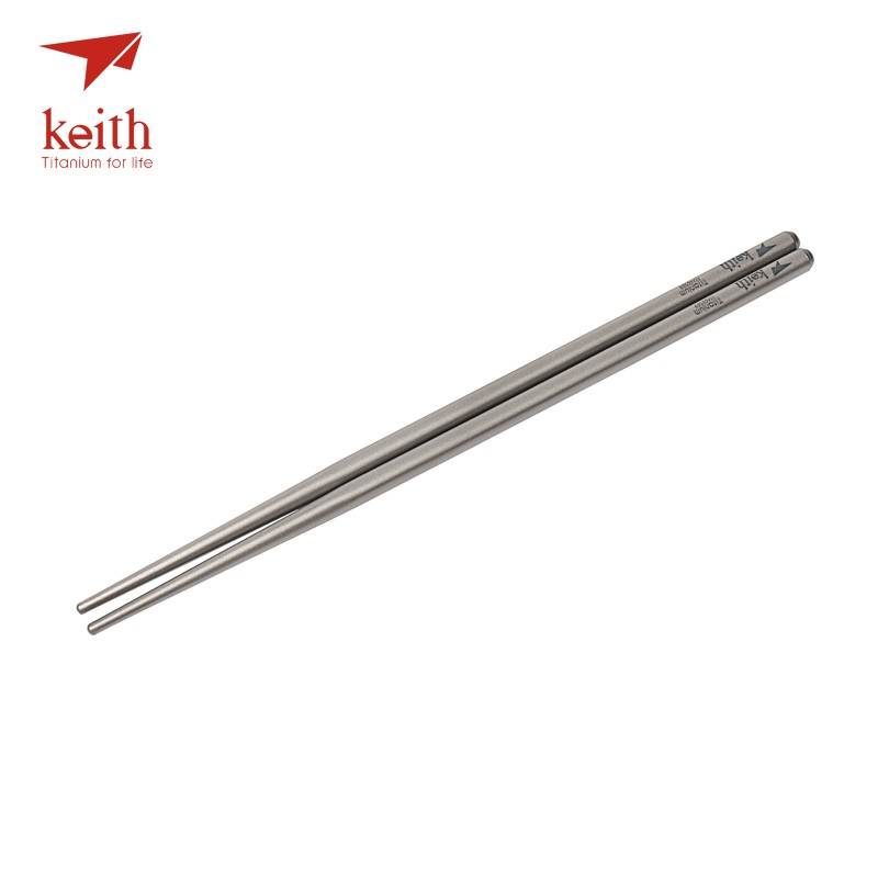 Portable Keith Titanium chopsticks with box travel Camp Ultralight Tableware