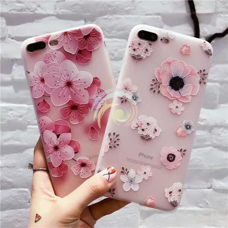 Flower soft case for iPhone 6/6s iPhone 7 7plus iPhone8 8plus iPhone X TPU  CASE