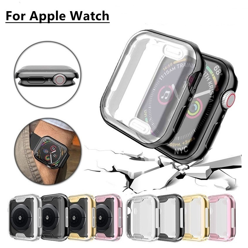 iWatch Apple Watch 38mm 40mm 42mm 44mm Fashion Electroplate SOFT PC Case Cover เคส TPU Iwatch