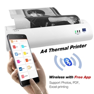 please COD 210mm Thermal Photos Picture PDF Printer wireless Bluetooth Mini handheld A4 Printer Android iOS PC A4 Printe