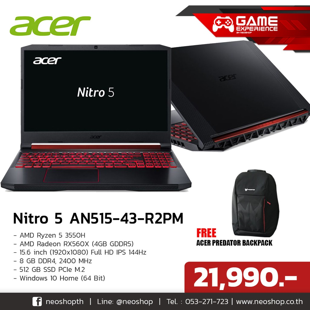 Acer Gaming Notebook Nitro 5 AN515-43-R2PM